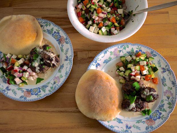 israeli kofta salad tahini ausplendor